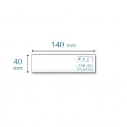 Etiquettes simples 140 x 40