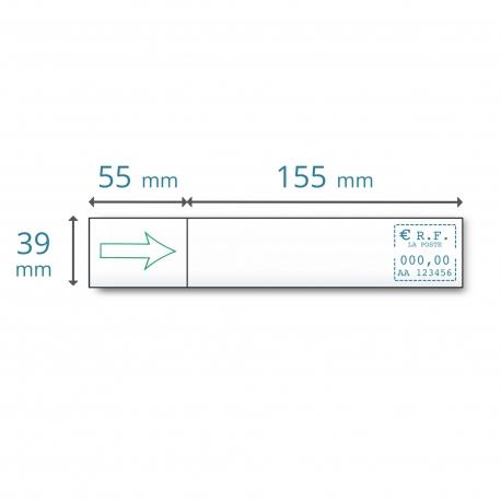 Etiquettes simples 155 x 39