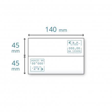 Etiquettes doubles 140 x (2x45)