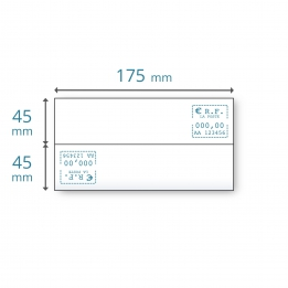 Etiquettes doubles 175 x (2x45)