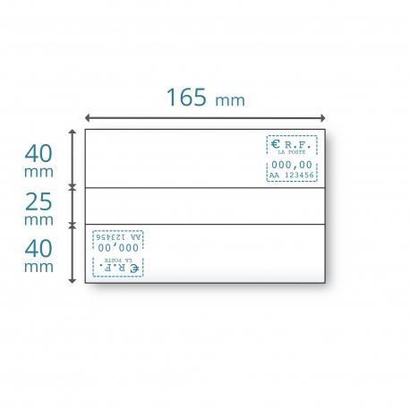 Etiquettes doubles 165 x (2x40) + 25