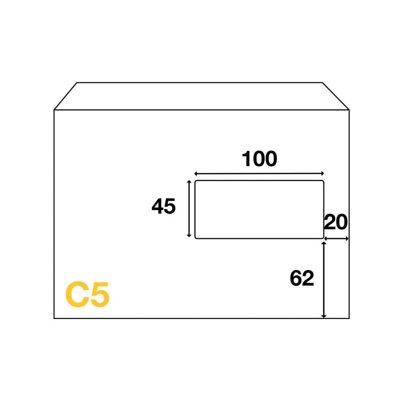 Enveloppes c5 162x229 mm avec fen tre for Format fenetre