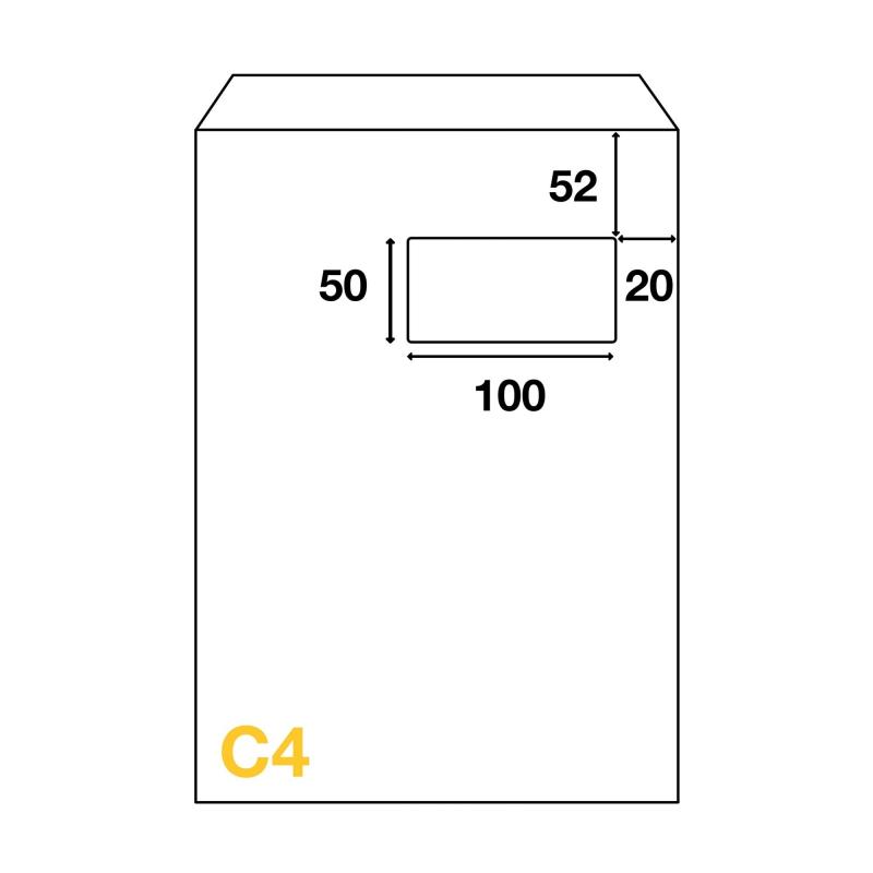 Enveloppes C4 229x324 Mm Avec Fenêtre