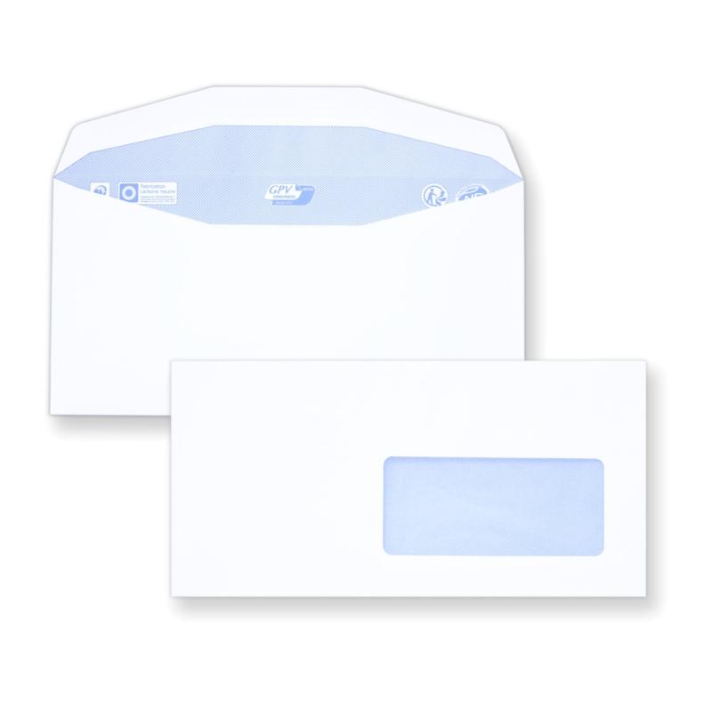 Enveloppes c6 c5 m canisables 114x229 mm avec fen tre for Enveloppe c4 avec fenetre