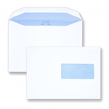 Enveloppe mécanisable C5 - 162x229 avec fenêtre 45x100