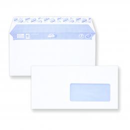 Enveloppe DL auto-adhésive - 110x200 avec fenêtre 45x100