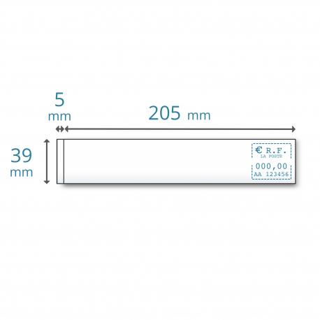 Etiquettes simples 205 x 39