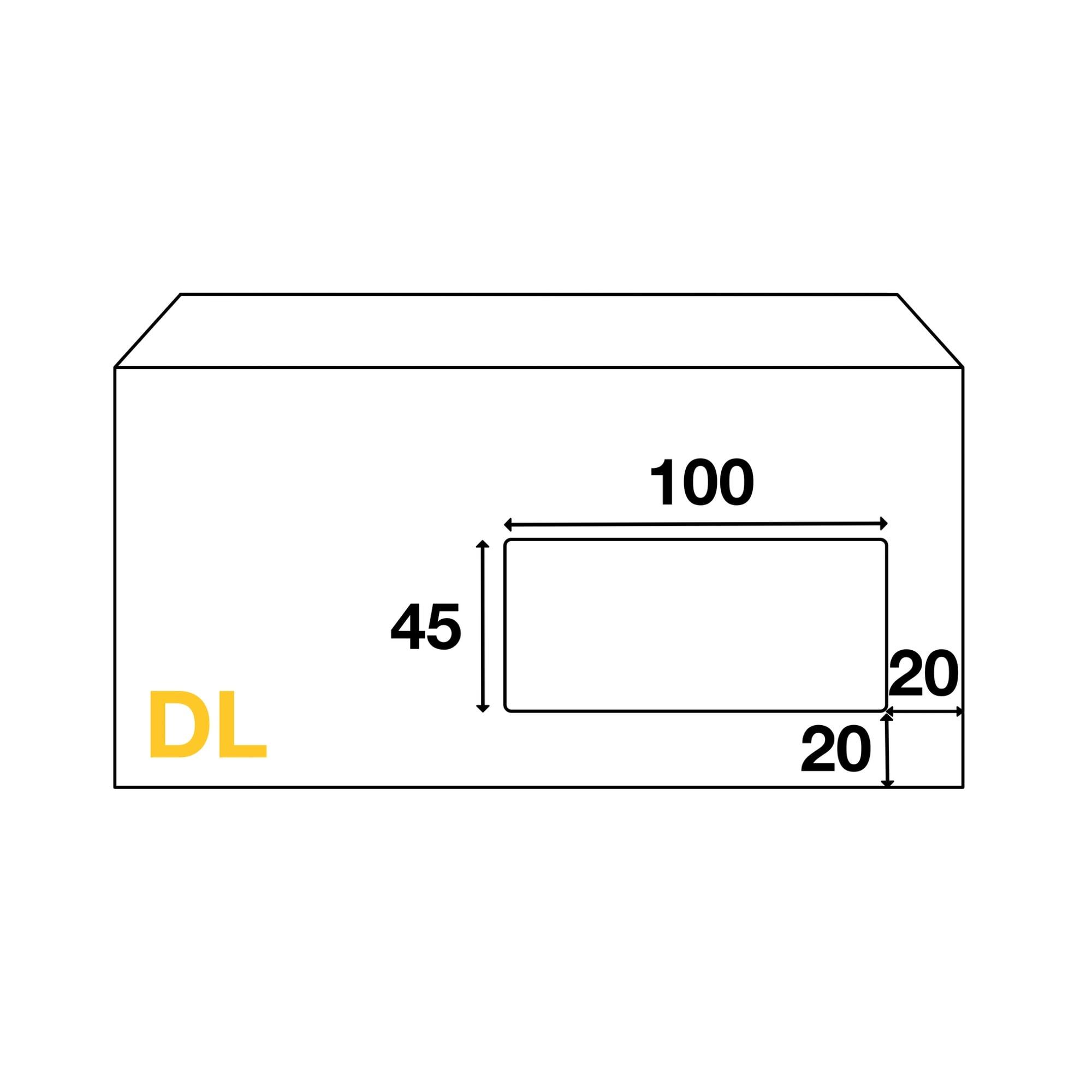 Enveloppes Dl 110x220 Mm Avec Fenêtre
